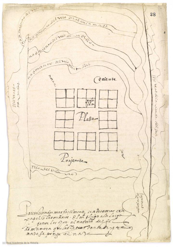 Map of the Relación de Valledupar, New Granada