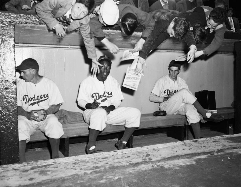 jackie robinson breaking the racial barriers essay Jackie robinson essaysjackie robinson forever changed the face of american history on opening day 1947, as he became one of the most influential athletes to break the.