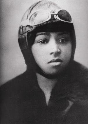 Black and white headshot of Bessie Colman, First African-American Pilot from the National Air and Space Museum